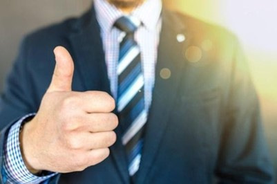 businessman with thumbsup